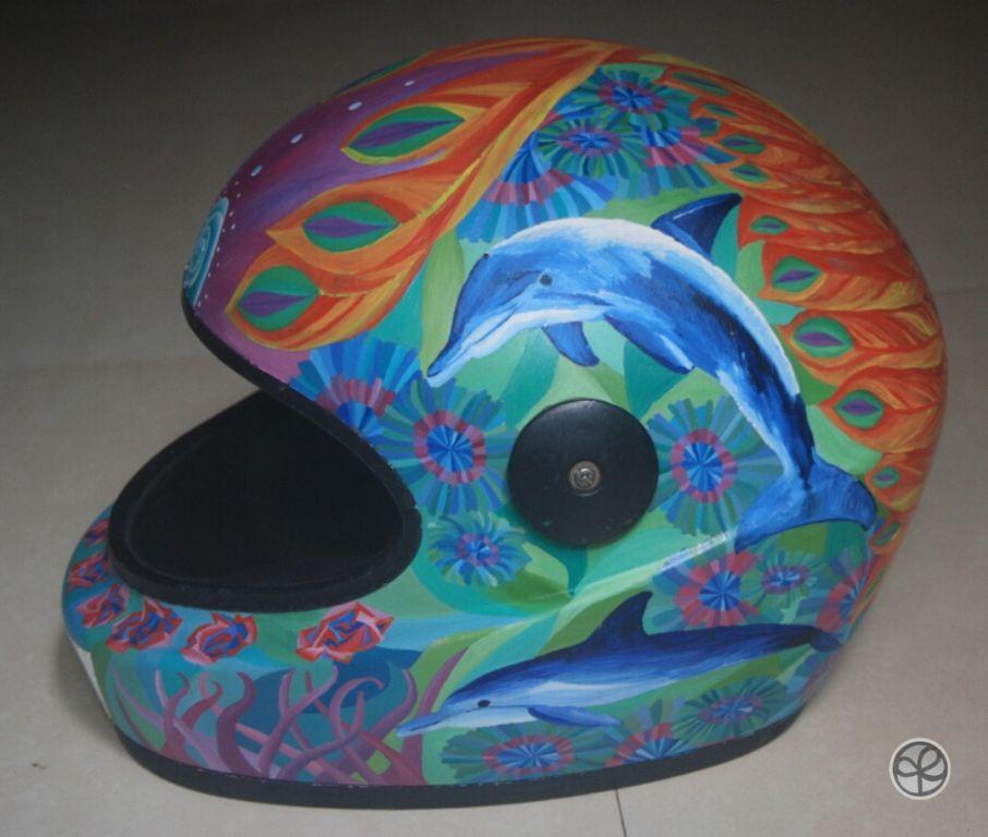 Dolphin Themed helmet
