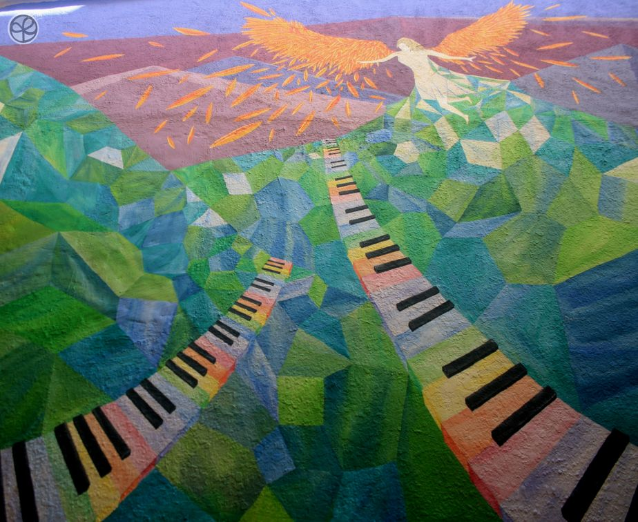 Rainbow Keys wall mural