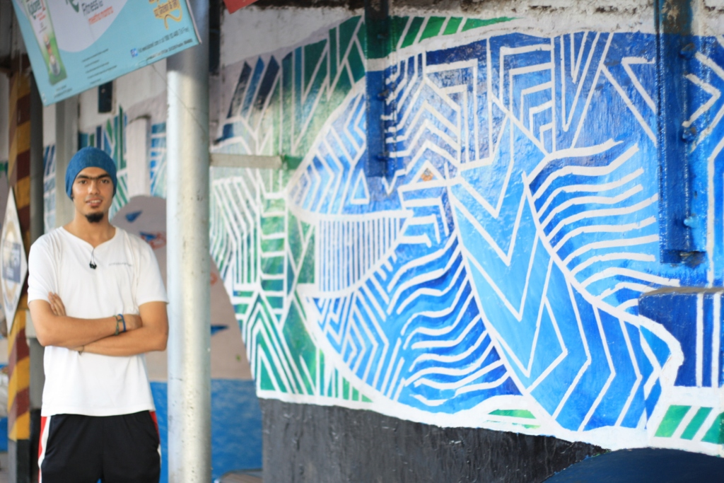 Wall mural at Mumbai Central Local