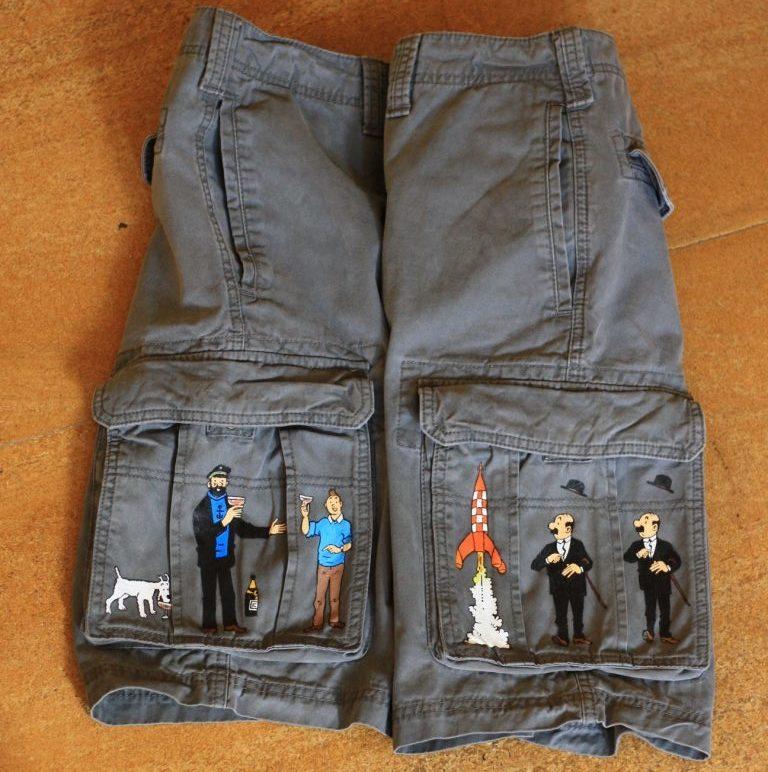 Custom Tintin shorts
