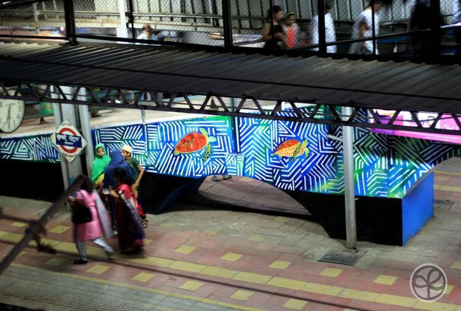 Mural at Mumbai Central