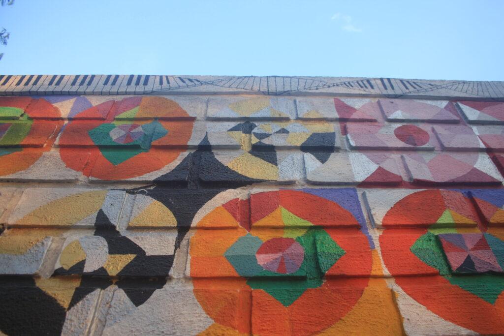 Music themed wall mural