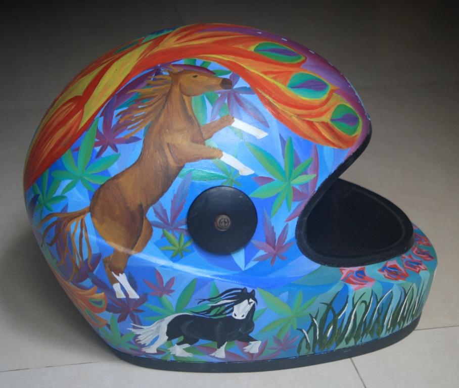 horse themed custom helmet